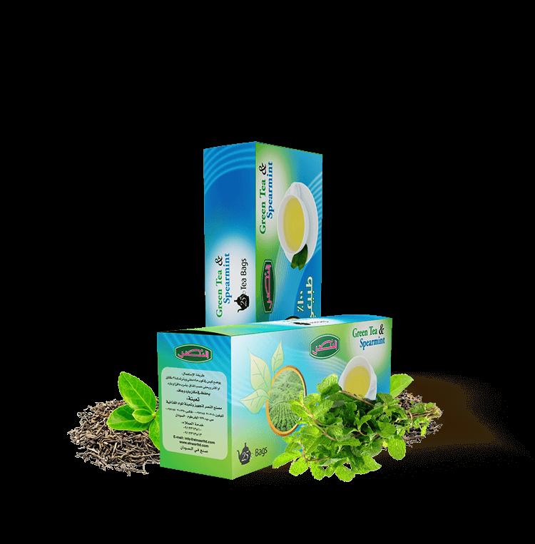 Té verde y menta verde